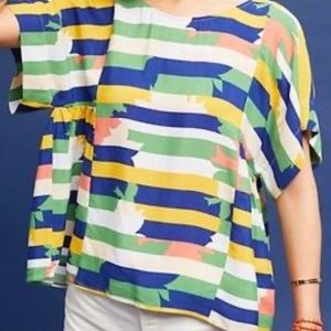 Maeve Anthropologie Multicolor Geometric Top